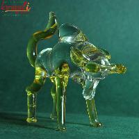 Rousing Bull Glass Sculpture
