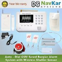 Wireless Burglar Alarm System With Gsm & Landline Auto..
