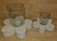 Wooden T-Light Candle Holders 01