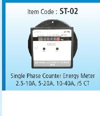 Single Phase Counter Energy Meter