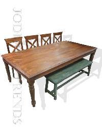 Carved Antique Finish Dining Set