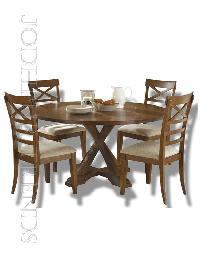 Round Wooden Dining Set