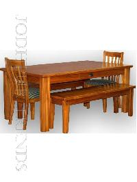 Wooden Dining Bench Set