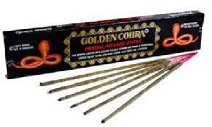 Golden Cobra Herbal Incense Sticks