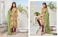 Casual Wear Chanderi Cotton Salwar Suit With Printed Dupatta