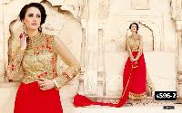 Heavy Embroidery Pure Georgette Fabric Designer Suit