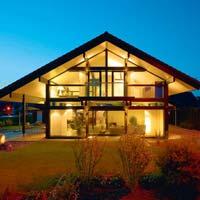 Glass house & Wood Villa