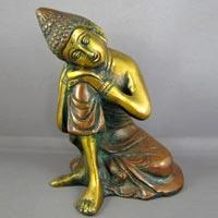 Bronze Statue Of Lord Buddha Sitting Pose