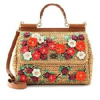embroidered hand bags