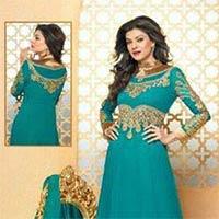 Designer Turquise Blue Anarkali Suit