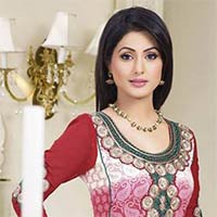 Heavy Embroidered Red Pink Salwar Suit