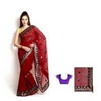 Embroidered Chiffon Fashion Saree