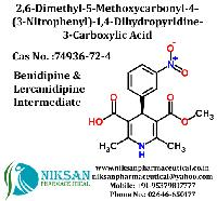 2,6-dimethyl-5-methoxycarbonyl-4-(3-nitrophenyl)-1,4-dihydropyridine-3-carboxylic Acid