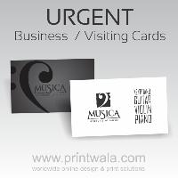 Urgent Business Cards One Side Printing