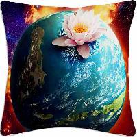Lotus Earth Cushion Cover