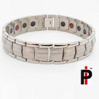 Mens Two Tone Silver Bracelets