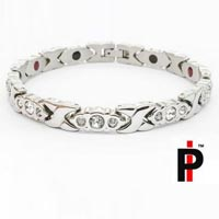 Silver And White Crystal Bracelets