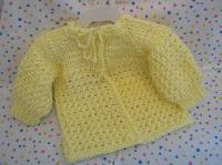Yellow Crochet Baby Sweater