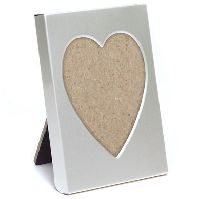 Small Silver Heart Photo Frame