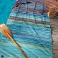 Seahorse Sunset Beach Towel