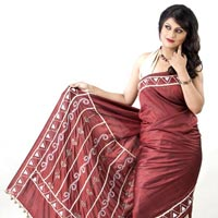 Hand Stiched Silk Saree