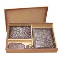 Leather Wallet and Key Chain Sets