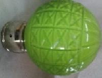 Square Cut Glass Green Curtain Rod Balls