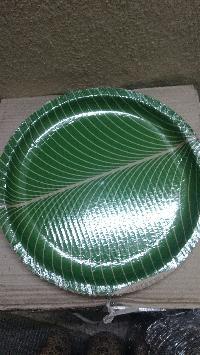 green buffet plates