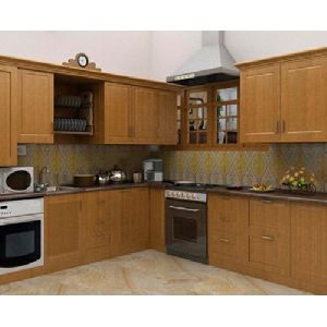 Solid Wooden Modular Kitchen