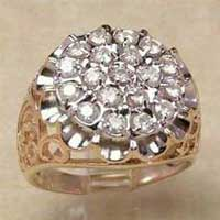 Mens Diamond Studded Ring