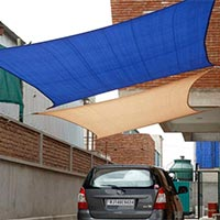 Shade Sails with Attached Rope
