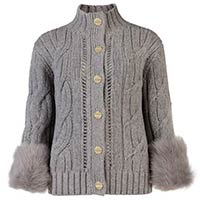 Fur Ladies Cardigan