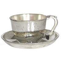 Silver Plated Cup Saucer