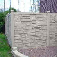 Simulated Stone Fencing