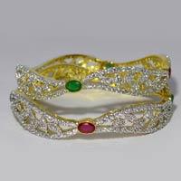 Designer Semi Precious Stone Bangles