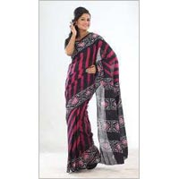 Batik Print Cotton Saree