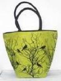 Green Ladies Fancy Jute Bags