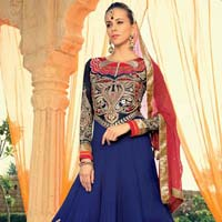 Anarkali Suits With Diamond Work Dupatta