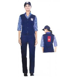 Hp Petrol Pump Female Waist Coat