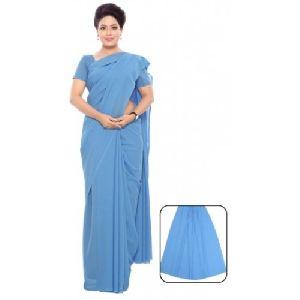 Women Nursing Poly Silk Plain Saree