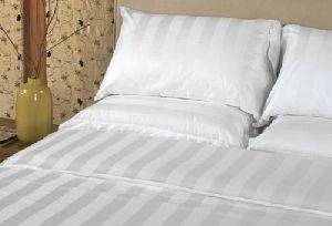 Sattin Stripe Cotton Bed Sheet