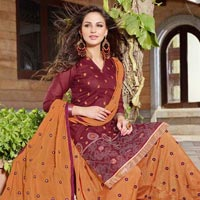 Patiyala House Cotton Semi Stitched Suits