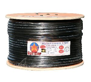 Rg-59 With Power 0.5mm Pure Cu Cctv3 Coaxial Cable
