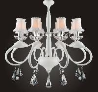 Modern Iron Crystal Chandelier