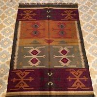 handmade Wool Jute Rug