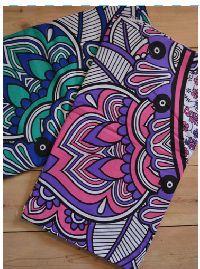 Ombre Elephant Design Cotton Bedspread