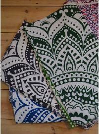 Ombre Mandala Cotton Bedspread
