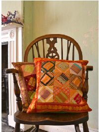 Sari Patchwork Cushion Cover