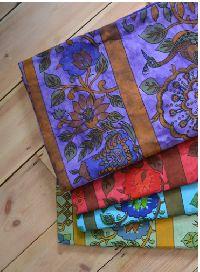 Tree temple cotton bedspread