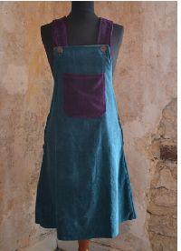 Velvet dungaree dress